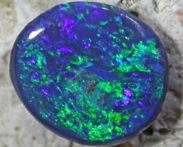 Deep dark Green blue fire Opal QOM 1593
