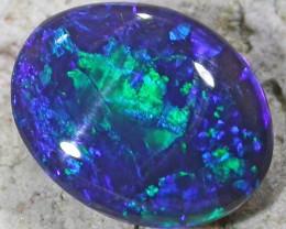 Deep dark Green blue fire Opal QOM 1594