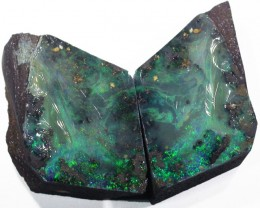 Pair good Boulder opals    QOM1602