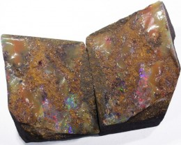 Pair good Split  Boulder opals    QOM1603