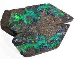 Pair good Boulder opals    QOM1613