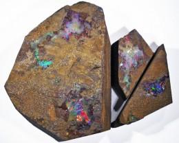 THREE Good Boulder Opals  QOM1623