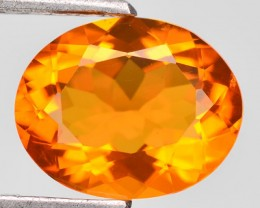 1.98 Cts Natural Mexican Orange Fire Opal Oval Faceted - NR Auction