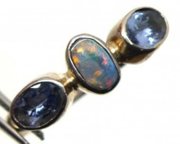 DOUBLET OPAL SILVER RING 13.05 CTS OF-991