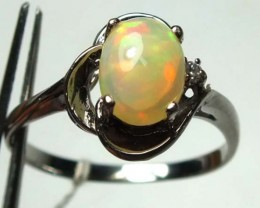 ETHIOPIAN OPAL RING STERLING SILVER 10.05 CTS  OF-999