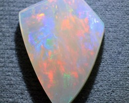 9.65ct WHITE BASED MASTERCUT ETHIOPIAN WELLO CRYSTAL GEM OPAL
