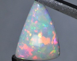 4.45ct ETHIOPIAN WELLO CRYSTAL MASTERCUT GEM OPAL MULTI FIRE PATCHWORK