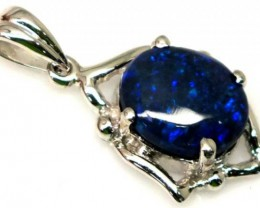 BLACK OPAL SILVER PENDANT 6.4 CTS  OF-1030