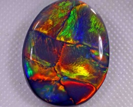 9.10 CT BRILLIANT BLACK OPAL FROM LR - EXCELLENT and SUPER RARE