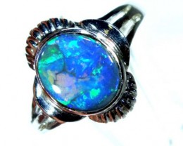 BLACK SOLID OPAL WITH 18K GOLD RING 15.65  CTS GC