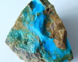 97.5 Cts Natural Blue Opal Rough With Bright Color