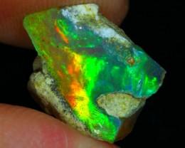 2.91ct Beautiful Green Flash Natural Ethiopian Welo Rough Opal