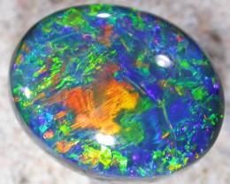 6.55 Stunning Gem  Black opal AGR 2037