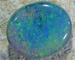 BRILLIANT SHIMMER RICH GREEN FIRE BLACK OPAL 2.45 CTS QO1724