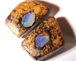 NICE PATTERN YOWAH OPAL POLISHED STONE PAIR 2 PCS 3.60 CTS NC-2490 GC