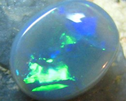 1.40 CTS BLACK OPAL GREEN FIRE POLISHED STONE HW557