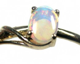 BEAUTIFUL CRYSTAL OPAL 9K GOLD RING SIZE 6.5 SCO1519