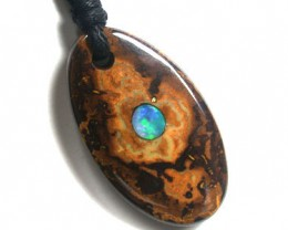 DOUBLE SIDED KOROIT INLAY  OPAL PENDANT 39.40 CTS K1290