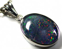 BEAUTIFUL MULTI COLOUR FLASH TRIPLET OPAL PENDANT SCO1643ML