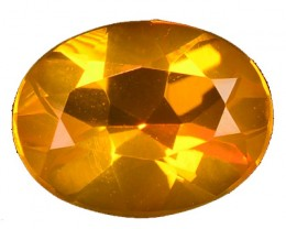 Natural Mexican Orange Fire Opal Oval Faceted