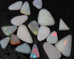 Coober Pedy Opal Rubs 17 Pieces REDS 30 Carats