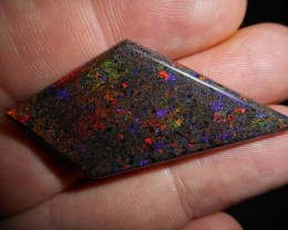 26.5ct  A Grade Rainbow Andamooka Matrix Stone 5/5