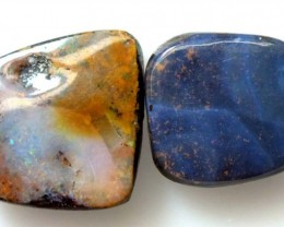 BOULDER OPAL POLISHED BEADS PARCEL (2 PCS)  21.70  CTS   LO-2452