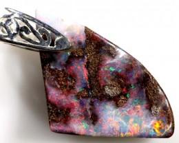 Boulder Silver  Opal Pendants