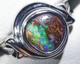 Amazing Koroit Boulder Opal Ring 7.5  BU 410