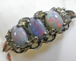 Bright Cluster fire Crystal  Opal Ring size 7 BU 416