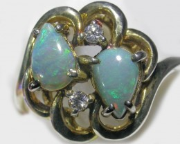 One off beautiful  Crystal  Opal Ring  size 6 BU 417