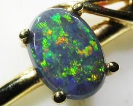 Nice Multi fire opal 18 K gold ringsize 6.5   BU 433