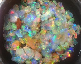 400carats Mexican Crystal  Opal Rough Bright Fire Multi-Color