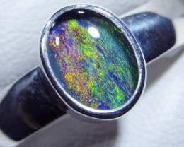 Aussie Opal Triplet  in silver Ring PL 1374