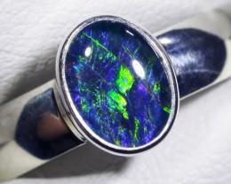 Aussie Opal Triplet  in silver Ring PL 1380