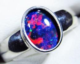 Opal Triplet Rings