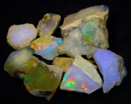 48.24Ct Nice Color Play Ethiopian White Welo Opal Rough Lot