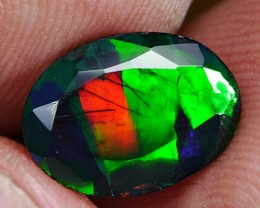 1.40 CRT FACETED  PATCHWORK SMOKE OPAL *