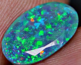 1.55 AMAZING BRILLIANT MICRO PUZZLE FACETED SMOKED OPAL.