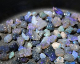 Lightning Ridge Black Opal Parcel Small Stones 2 Ounces Blues and Greens