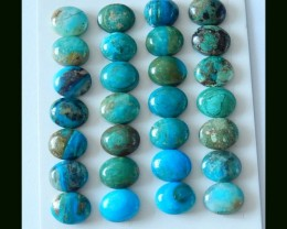 28 Pcs Natural Blue Opal Oval Cabochons,53 Cts