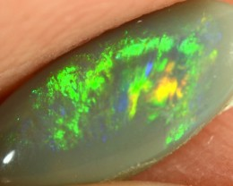 Semi Black Opal - ID:20378 Electric Shine Green 100% Natural Australian Opa
