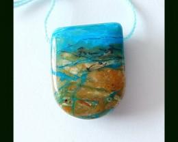 25 cts Natural Blue Opal Locket Pendant Bead
