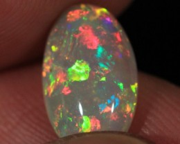 2.46CT~WELO OPAL CAB~VERY BRIGHT~METALLIC FIRE
