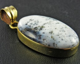 61Cts Dendritic Turkish Opal pendant  BU636