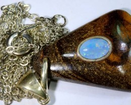 BOULDER OPAL INLAYED PENDANT 30 CTS OF-1081