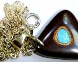BOULDER OPAL INLAYED PENDANT 26  CTS OF-1082
