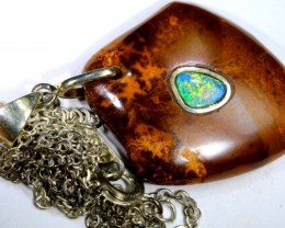BOULDER OPAL INLAYED PENDANT 36 CTS OF-1085