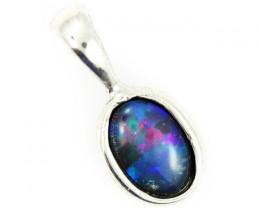 Cute Bright triplet opal pendant top  BU 707