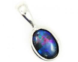 Cute Bright triplet opal pendant top  BU 707